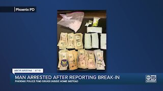 Valley man arrested after reporting break-in