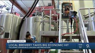 Local brewery sales tank amid coronavirus concerns