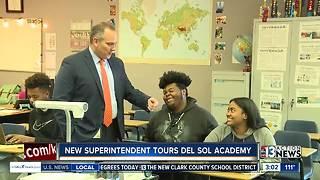 New superintendent tours school