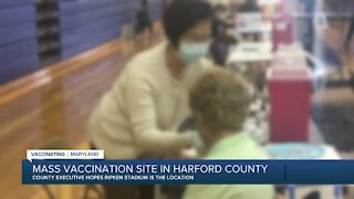 Mass vaccination site in Harford County
