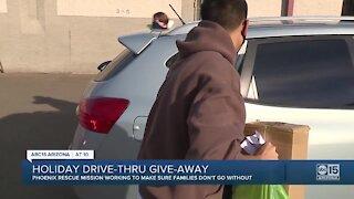 Holiday drive-thru giveaway