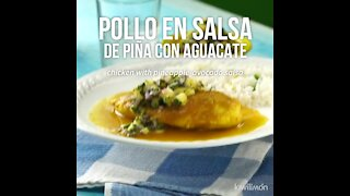 Chicken in Pineapple Sauce with Avocado