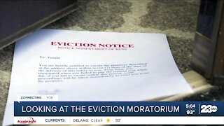 Looking at the eviction moratorium
