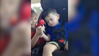 Sleepy Boy Defends his Lollipop