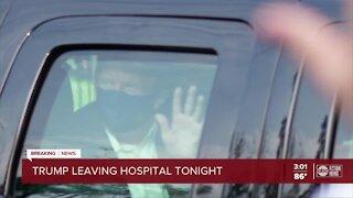 President Trump says he's leaving hospital Monday night