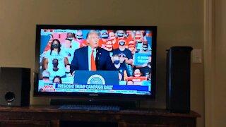 Trump mocks Biden media