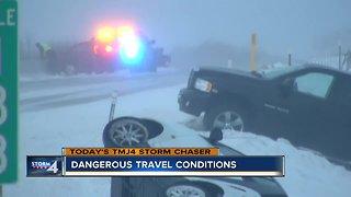 Dangerous travel conditions along I-43 in Sheboygan County
