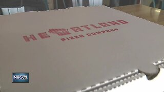 We're Open: Heartland Pizza Company encouraging customers to use online ordering