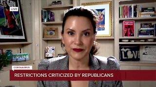 Gov. Gretchen Whitmer responds to Republican criticism over new restrictions