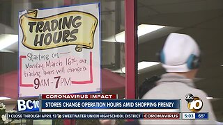 Coronavirus forcing stores to cut down on hours or close