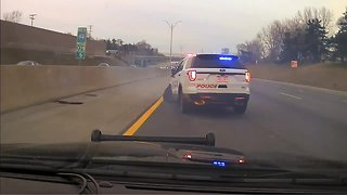 Dashcam video shows suspect leading Sterling Heights police on chase in Macomb County