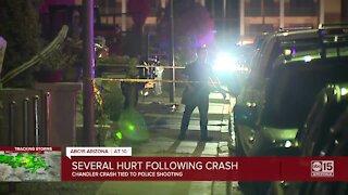 Chandler crash tied to police shooting