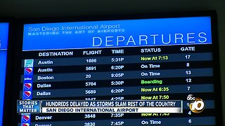 Hundreds delayed at San Diego International airport