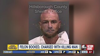 Convicted felon arrested, charged with killing man