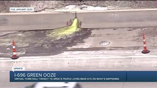 Virtual townhall to update residents on I-696 green ooze cleaning efforts
