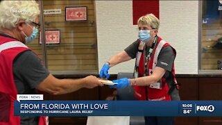 Local Red Cross volunteers help those impacted by Hurricane Laura