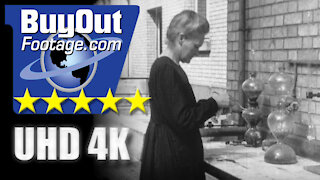 Radioactivity Researcher Marie Curie Historic Film Footage