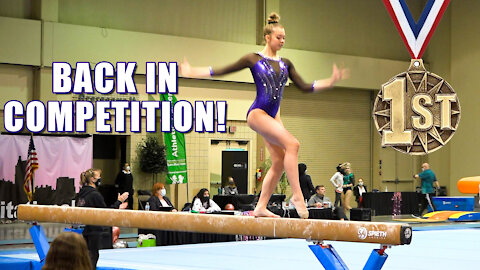 First Gymnastics Competition after 2nd Elbow Surgery | Whitney Bjerken