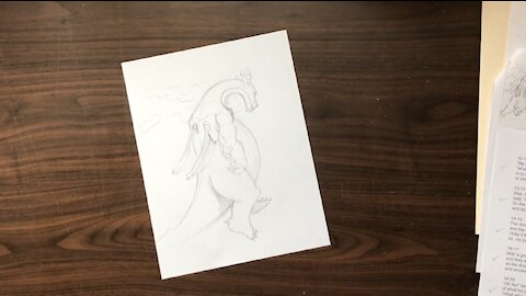 The Thirsty Dragon Children's Book Illustration Time-Lapse