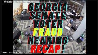 Georgia Senate Voter Fraud Hearing RECAP!