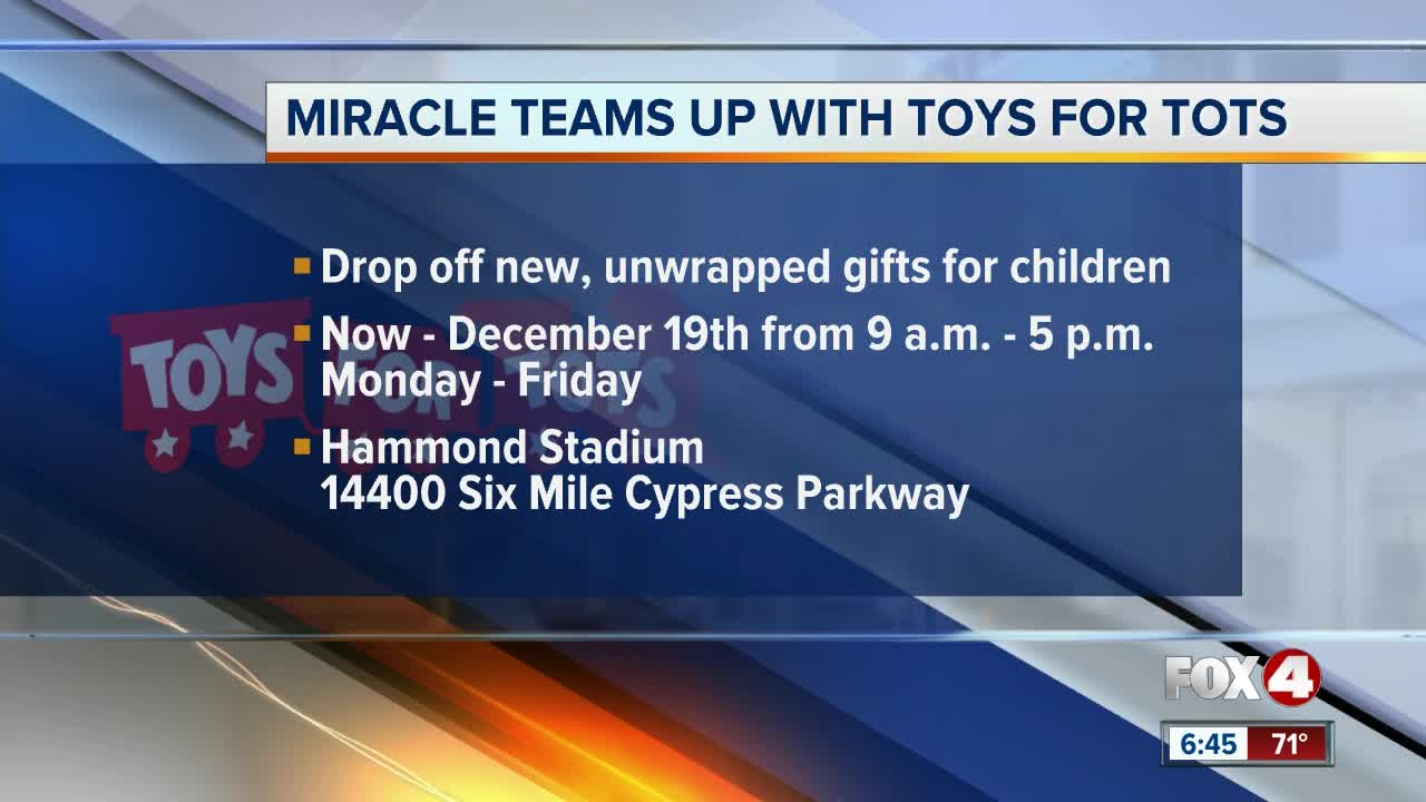 Fort Myers Miracle partners with Toys for Tots Lee County