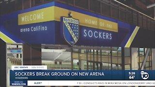 Sockers break ground on new arena