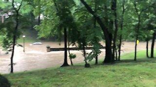 Heavy rain floods MLK Boulevard