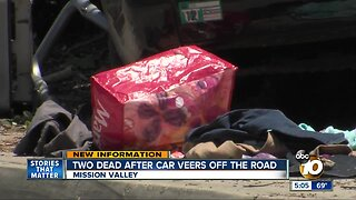 2 dead, 1 in critical condition after Mission Valley bus stop crash