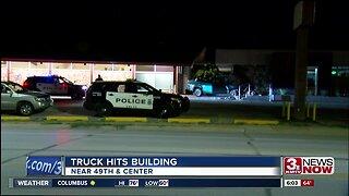 Truck hits pharmacy