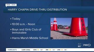 Harry Chapin drive thru food distribution