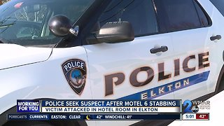 Police seek suspect after Motel 6 stabbing