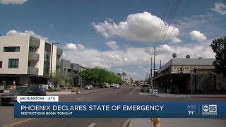 Phoenix declares state of emergency, restrictions begin tonight