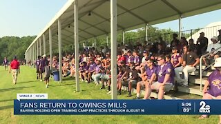 Fans return to open practice at Owings Mills performance center