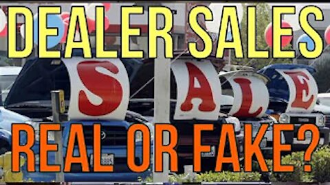 CAR SALES AT DEALERS! REAL or FAKE? WHEN TO BUY CARS! Auto FINANCE The Homework Guy Kevin Hunter