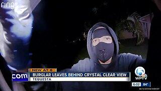 Burglar leaves behind crystal clear view