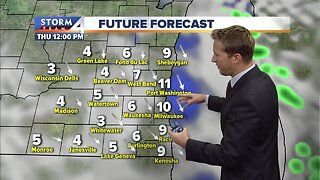 Mostly cloudy, windy Wednesday