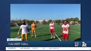 The Calvert Hall College High School Football team says Good Morning Maryland