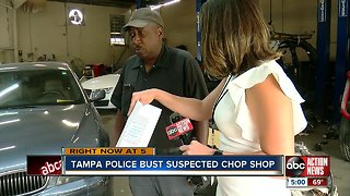 Tampa Police busts repair shop owner for running stolen car chop shop