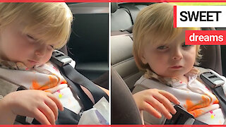 Adorable video shows three-year-old boy fall asleep while eating a sweet