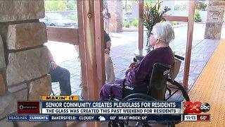Senior Community Creates Plexiglass for residents