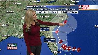 Tracking Hurricane Dorian | 5 p.m. update