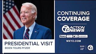 President Joe Biden visiting Michigan today