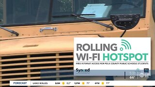 Polk County Public Schools offering free WiFi for students via 50 schools buses