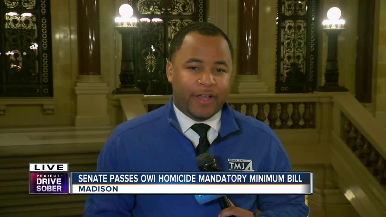Senate passes OWI homicide mandatory minimum bill