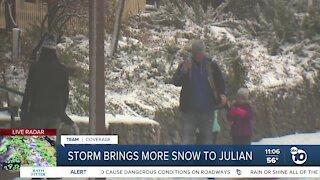 Storm brings more snow to Julian