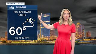 Cold front moves in Sunday evening