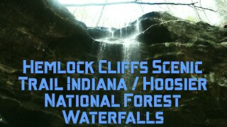 HEMLOCK CLIFFS SCENIC TRAIL INDIANA / Hiking Hoosier National Forest Waterfalls / Southern Indiana