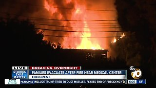 Fire forces evacuation of building near UC San Diego Medical Center