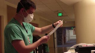 service members providing support to Adventist Health Lodi Memorial Hospital