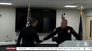 Bellevue Police officer honored for heroic action during Sonic shooting